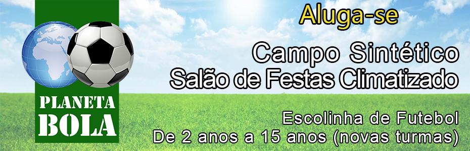 Banner planeta bola - Espaço para festa em Itaipú - Campo Planeta Bola na Região Oceânica