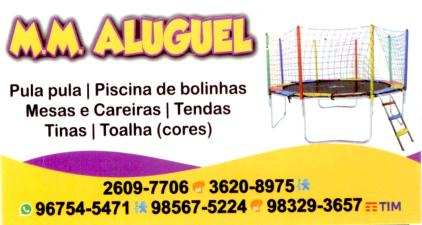 cartaodevisitas - Aluguel de Brinquedos na Região Oceânica - M.M. Aluguel de Brinquedos.